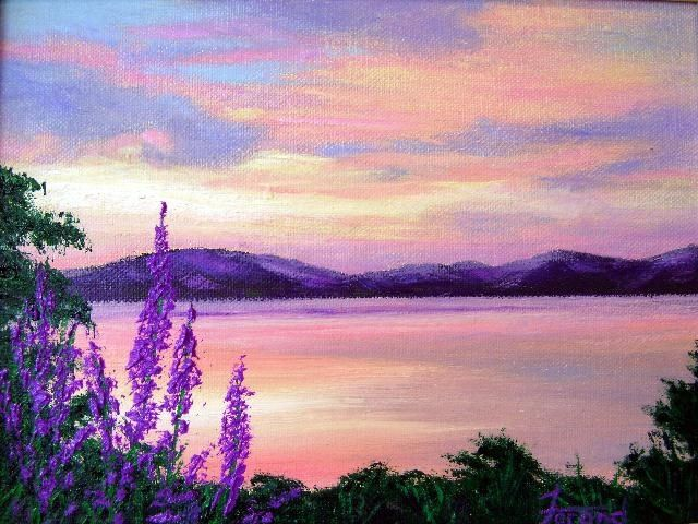 """Painting titled """"Morning Glow"""" by Marie-Therese Forand, Original Art, Oil"""