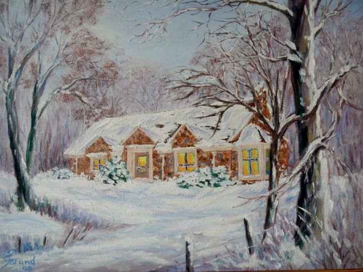 whitmore-ave-york-old-house-2016-12-08-001.jpg - Painting,  18x24x2 in ©2016 by Marie-Therese P. Forand -                                                        Impressionism, Canvas, Architecture
