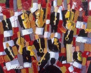L'orchestre - Painting, ©2000 by Franck Mugnie -                                                              Jazz