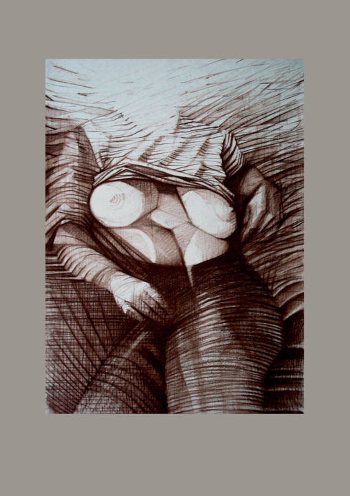 """Drawing titled """"Anomaly 1"""" by 757, Original Art, Charcoal"""