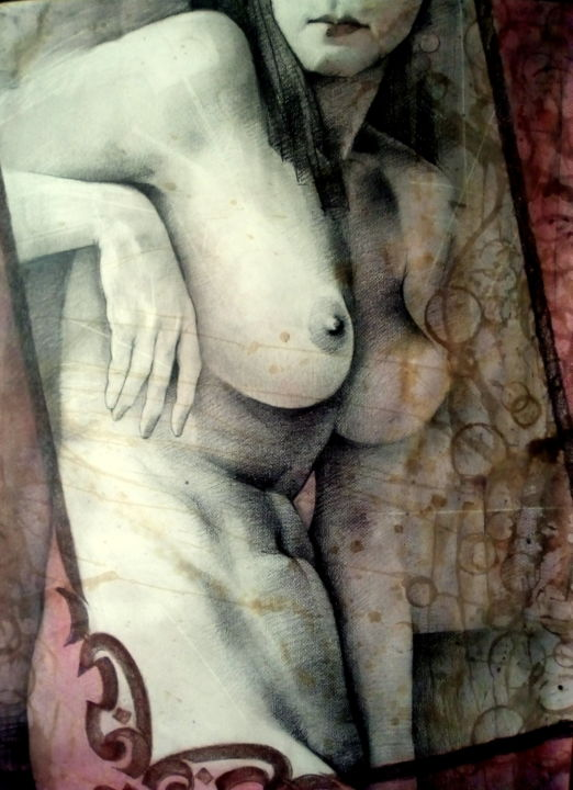 """Drawing titled """"Dirty"""" by 757, Original Art, Chalk"""