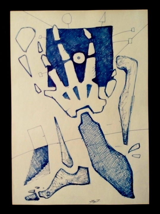 """Drawing titled """"Claustrophobia"""" by 757, Original Art, Ink"""