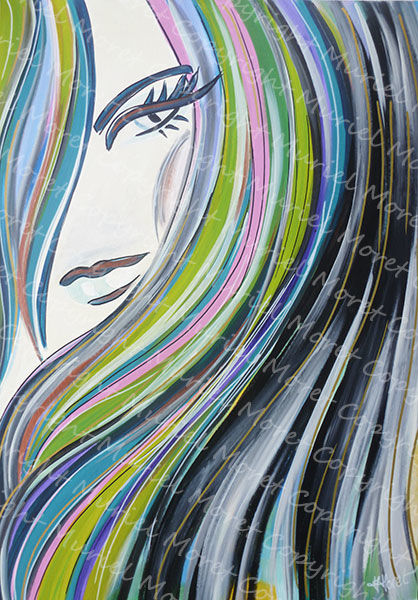 Sexy - Painting, ©2010 by Mimi Bondi -                                                                                                                          Abstract, abstract-570
