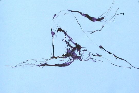 img-5681.jpg - Painting ©2013 by stalaven -            calligraphie, nu, mouvement