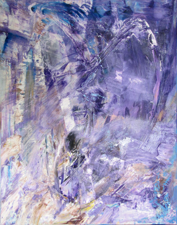Abstract Virginalis conceptio/Immaculata conceptio - © 2010 original abstract, virgin, purple Online Artworks