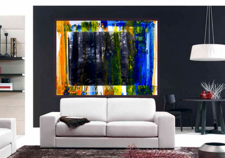 """Painting titled """"Colored Forest - Or…"""" by Dmitri Matkovsky, Original Art, Acrylic"""