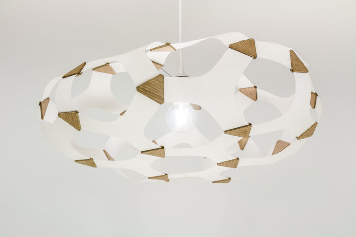 Luminaire lustre suspension grande alveole mathieu for Suspension luminaire papier