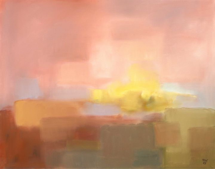 Untitled - Painting,  76x61 cm ©2009 by Magdalena Wojciechowska -                                                        Contemporary painting, Canvas, Landscape