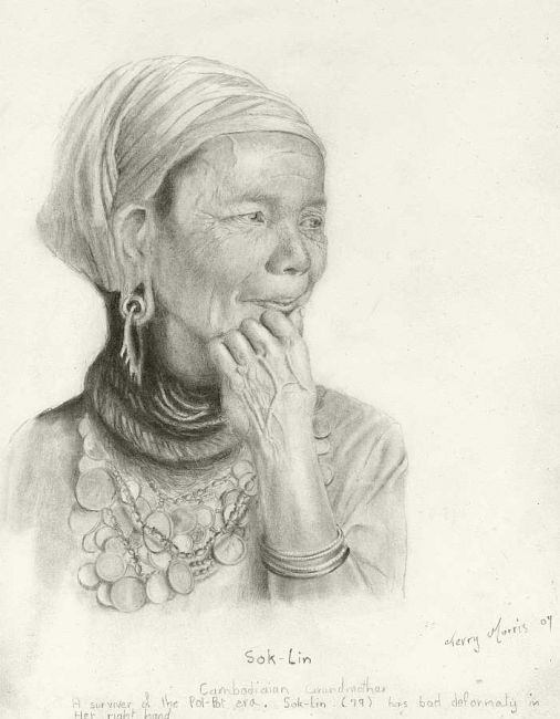 """Drawing titled """"Sok-Lin"""" by Branbuds, Original Art, Other"""