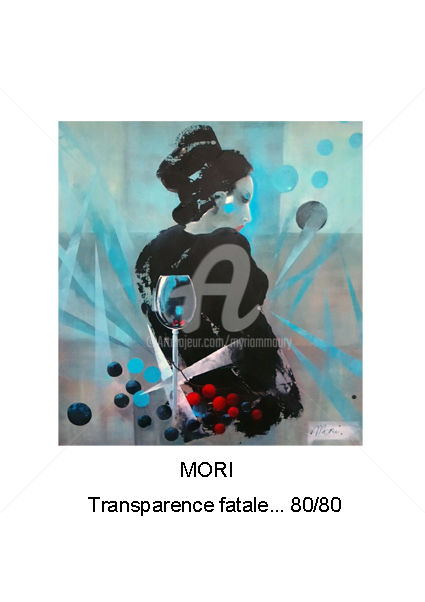 mori-1.jpg - Painting,  31.5x31.5 in, ©2018 by Mori -