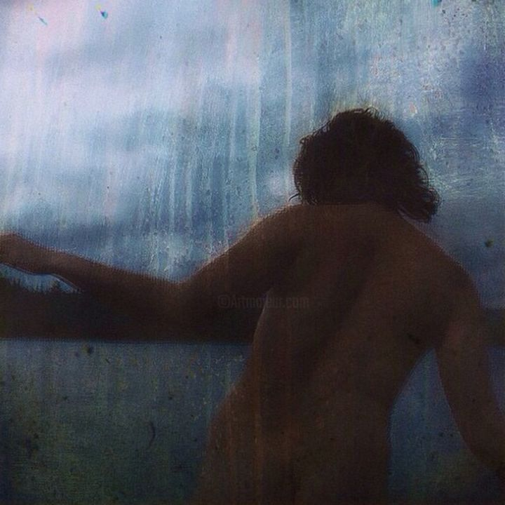 """Digital Arts titled """"the Bather (after C…"""" by John Naccarato, Original Art,"""
