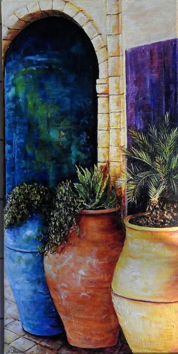 poterie du sud - Painting,  80x40x1.5 cm ©2018 by lenzotti -
