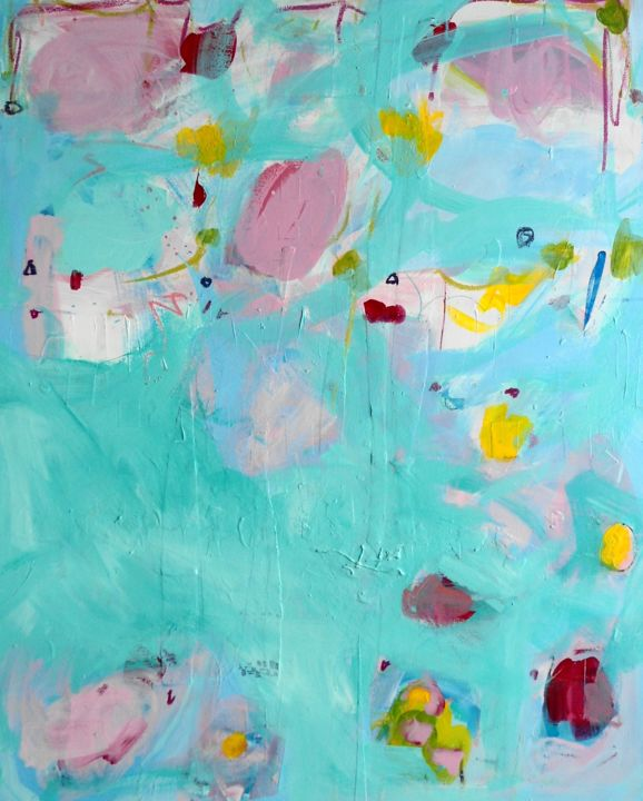 Vietavie 1 - Painting,  100x80 cm ©2017 by Nadine de Klerk Wolters -                                                        Abstract Art, Other, Abstract Art