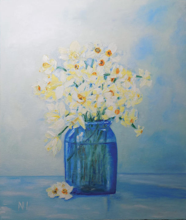 """Painting titled """"Spring"""" by Надежда Иванова, Original Art, Oil Mounted on Stretcher frame"""