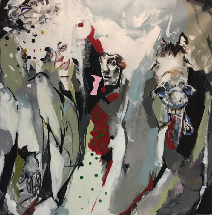 """Painting titled """"Stealthy"""" by Narges Soleimanzadeh, Original Art, Acrylic"""