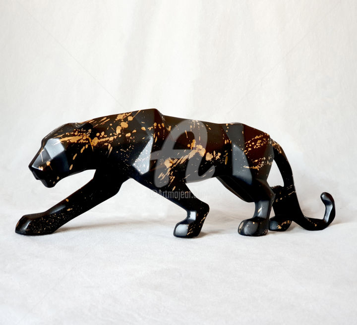 """Sculpture titled """"Panther black"""" by Na$H, Original Art, Acrylic"""