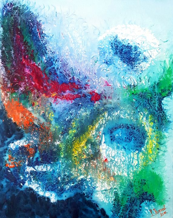 Reef abstract seascape 40x50cm natadamano for Sell abstract art online