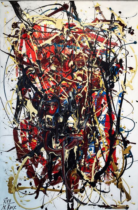 """Painting titled """"Unrest"""" by Natalia Rose, Original Art, Acrylic"""