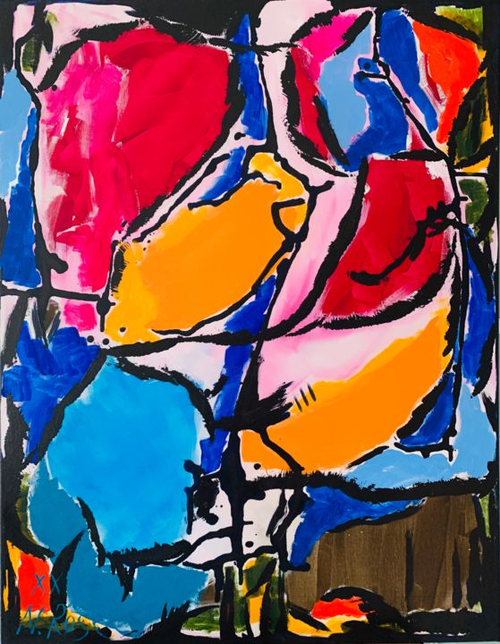 """Painting titled """"Happy Hour"""" by Natalia Rose, Original Art, Acrylic"""
