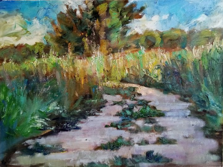 """Painting titled """"Дорога"""" by Natalya Timchenko, Original Art, Oil Mounted on Stretcher frame"""