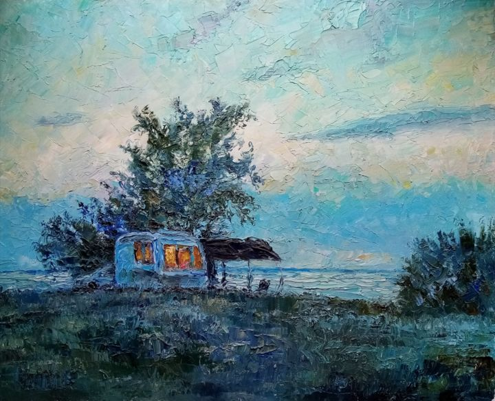"""Painting titled """"Evening on the Sea…"""" by Natalya Timchenko, Original Art, Oil"""