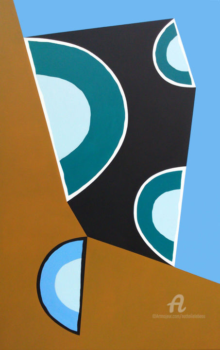 SANS TITRE - Painting,  116x81 cm ©2014 by NATHALIE LEBEAU -                                                        Minimalism, Canvas, Abstract Art