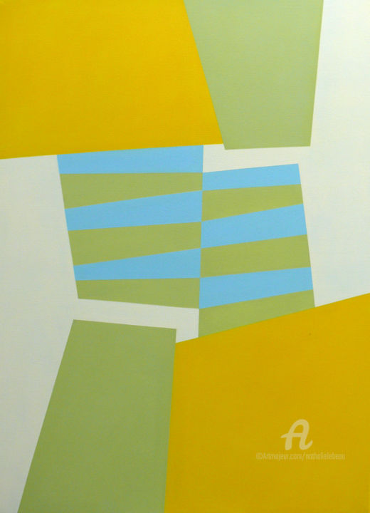PASSE T-ELLE - Peinture,  39,4x28,7 in, ©2014 par Nathalie Lebeau -                                                                                                                          Abstract, abstract-570
