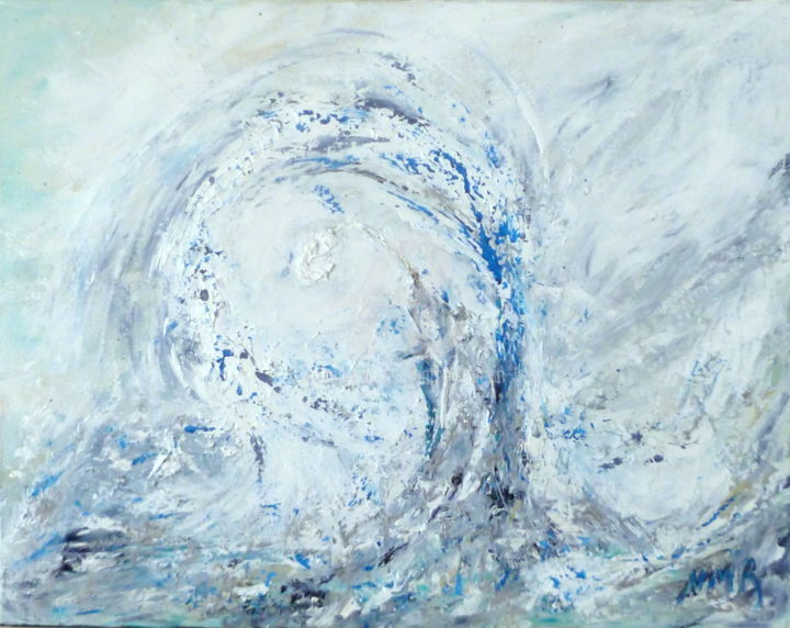 GIFT FROM THE SEA - Painting,  28x1x22 in ©2015 by Nathalie Morin Rousseau -                                                            Abstract Art, Canvas, Abstract Art, ANGE ANGEL, SEA, WHITE