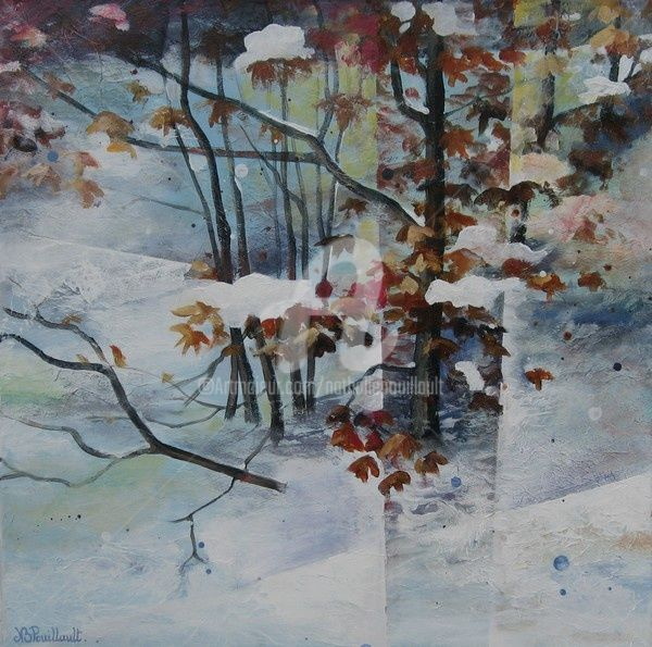 Vercors - Painting,  60x60 cm ©2007 by Nathalie Pouillault Boyaval -