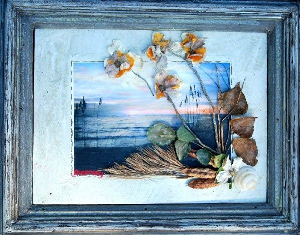 """Collages titled """"Early Low Tide"""" by Joe Burton, Original Art,"""