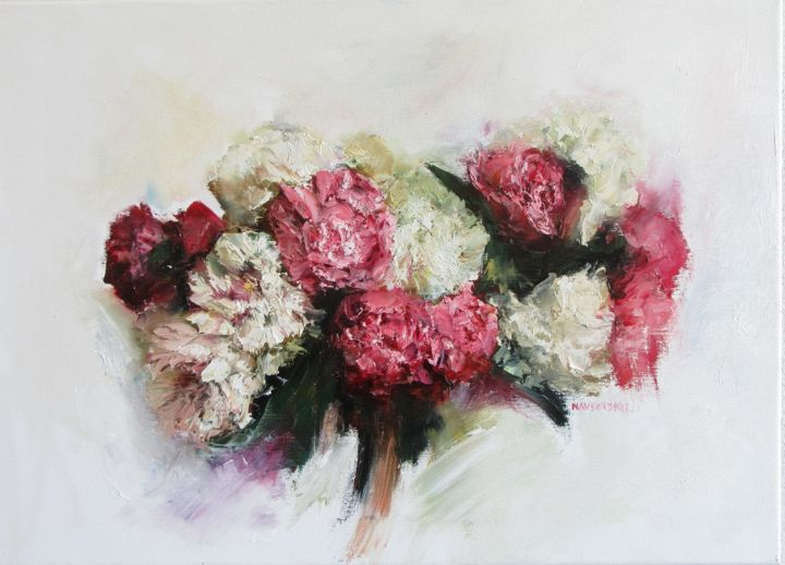 """Painting titled """"the flowers"""" by Igor Navrotskyi, Original Art, Oil"""