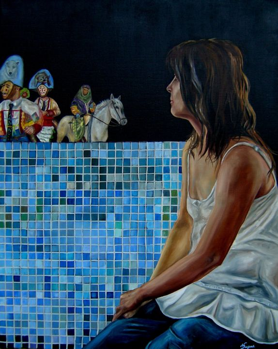 """Painting titled """"FANTASIA"""" by Nuno Duque, Original Art, Oil"""