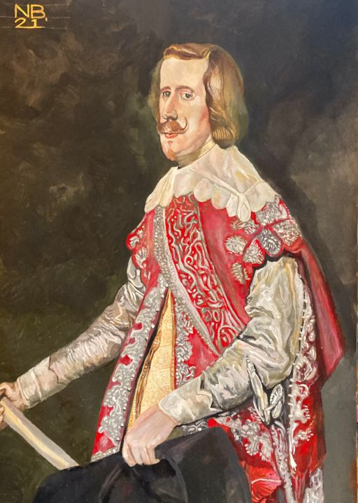 """Painting titled """"Philip IV after vel…"""" by Neal Burns, Original Art, Gouache"""