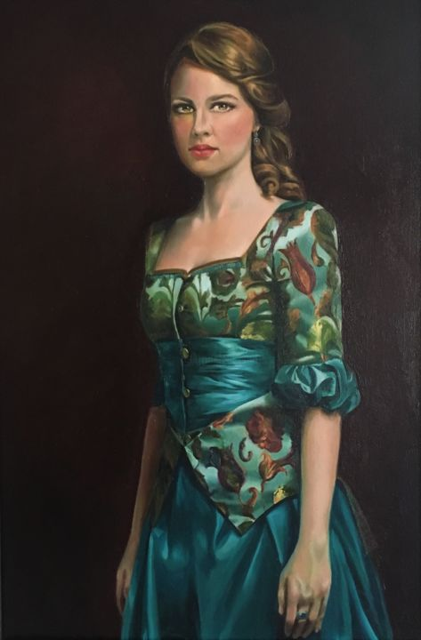 """Painting titled """"Woman and History"""" by Negin Tayebi, Original Art, Oil"""