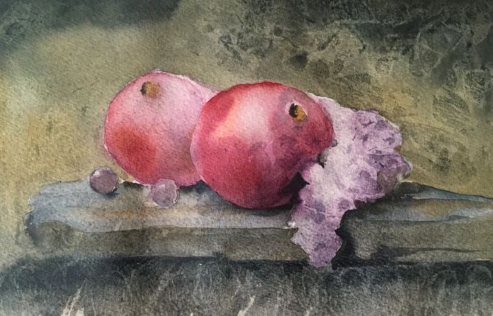 """Painting titled """"ef697a4f-4c47-40f0-…"""" by Nelli Lopatina, Original Art, Watercolor"""