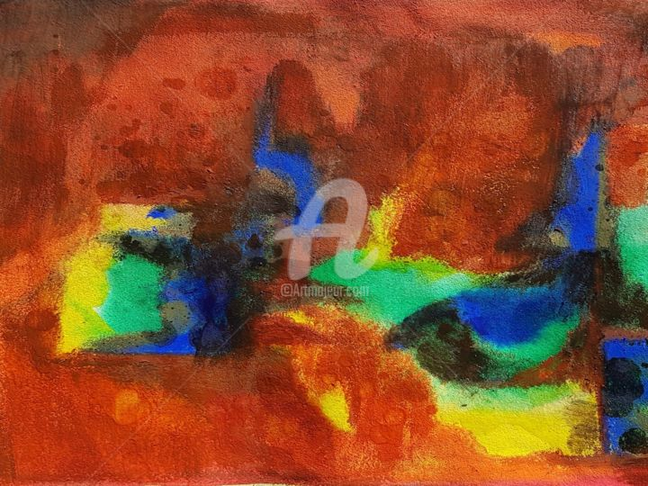 """Painting titled """"couleurs"""" by Nelly Coudoux, Original Art, Acrylic"""