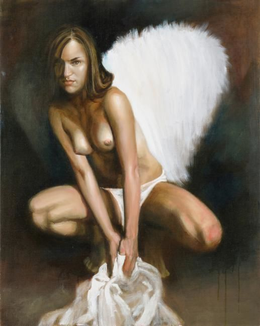 """Painting titled """",,Angel,,"""" by Nelly Drell, Original Art, Oil"""