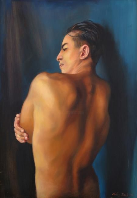 """Painting titled """",,Torso,,"""" by Nelly Drell, Original Art, Oil"""