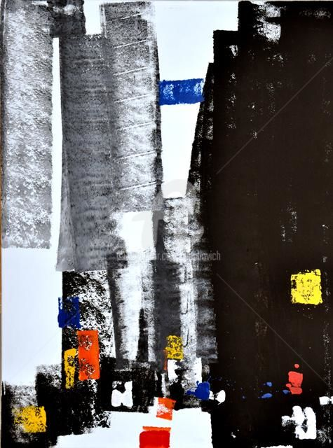 BT101 - Painting,  35.4x47.2 in ©2011 by Igor Nelubovich -                        Abstract Art