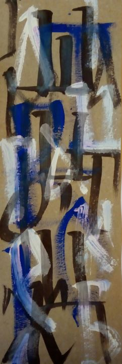 """Painting titled """"Calligraphy 2"""" by Nevena Ristic, Original Art, Ink"""