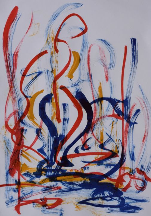 """Painting titled """"®"""" by Nevena Ristic, Original Art, Acrylic"""