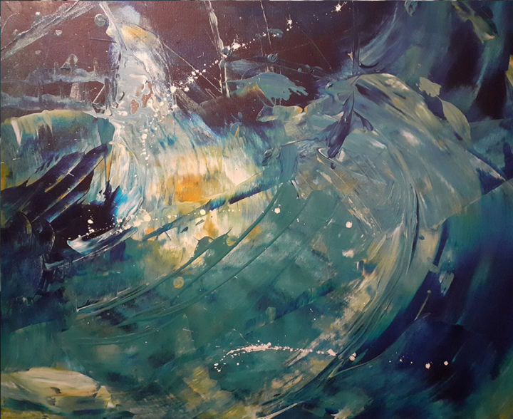 """Painting titled """"broken glass"""" by Nuno Feijao, Original Art, Oil"""