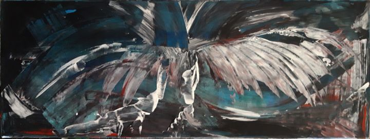 """Painting titled """"Fly away"""" by Nuno Feijao, Original Art, Oil"""
