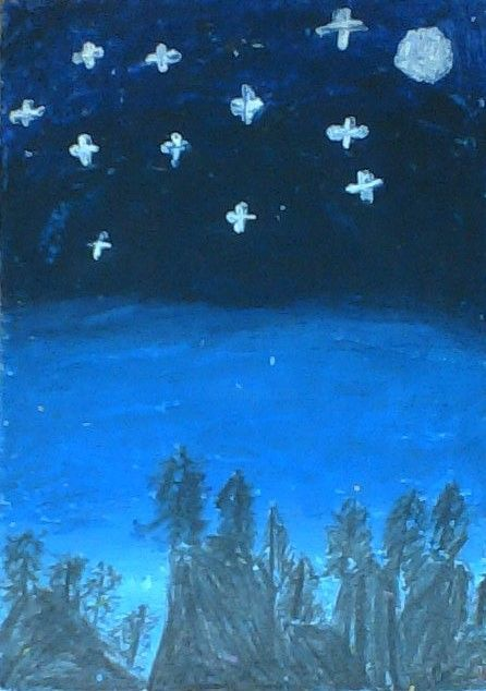 """Painting titled """"Midnight blue"""" by Nguyên Huy Nguyễn, Original Art, Oil"""