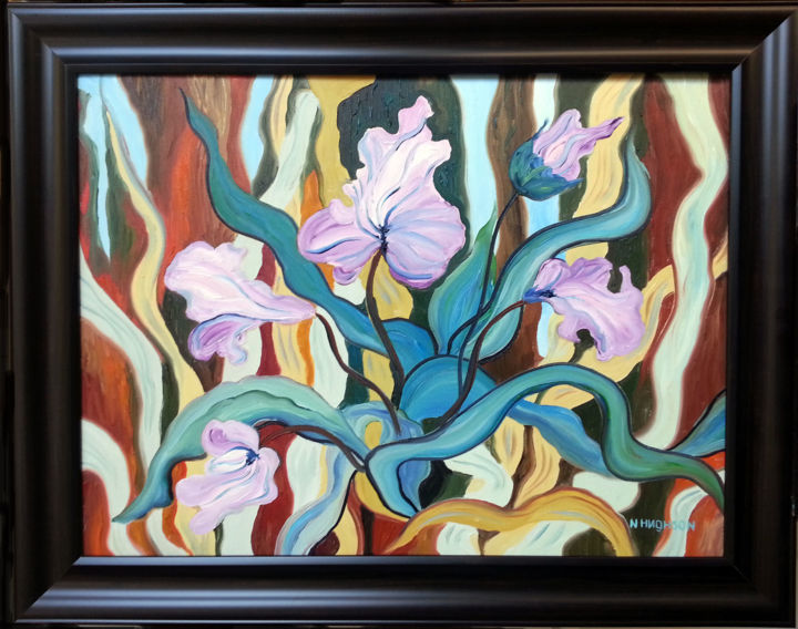 """Painting titled """"Chorale of Life"""" by Natalia Hughson, Original Art, Oil"""