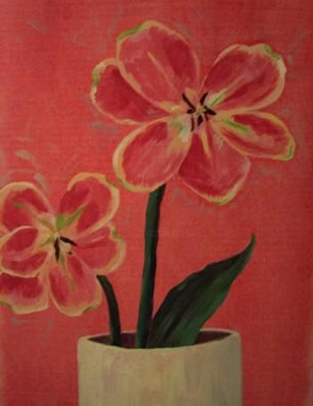"""Painting titled """"Flowers"""" by Nichole Herbst, Original Art,"""