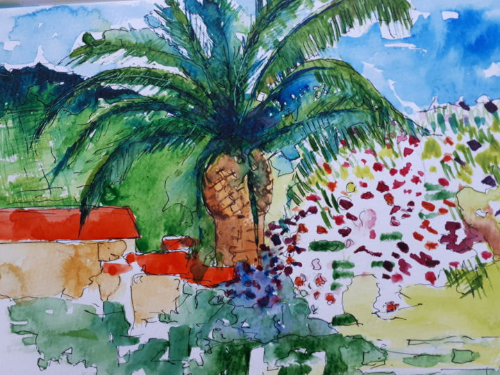Collioure -2 - Painting,  30x50 cm ©2018 by Nick Cowling -