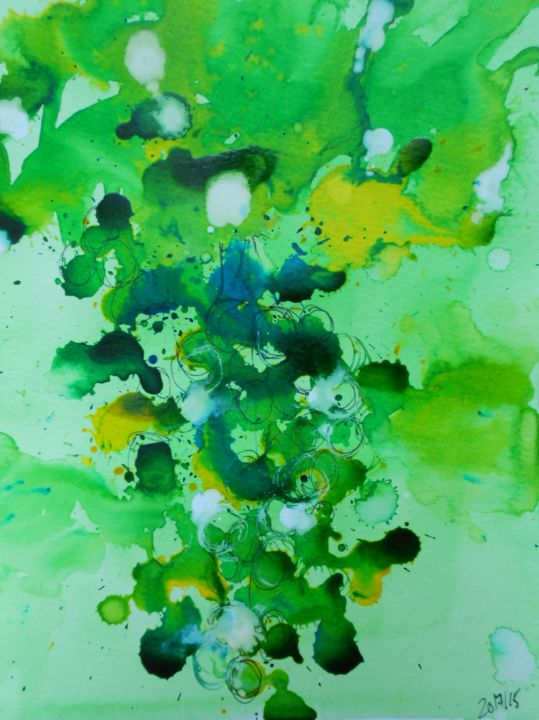 grapes 1 - Painting,  32x24 cm ©2015 by Nick Cowling -
