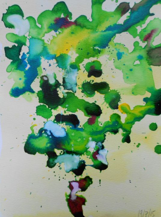 Grapes 2 - Painting,  32x24 cm ©2015 by Nick Cowling -
