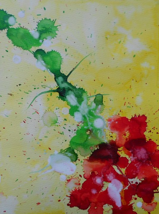 campsis-4.jpg - Painting,  32x24 cm ©2016 by Nick Cowling -